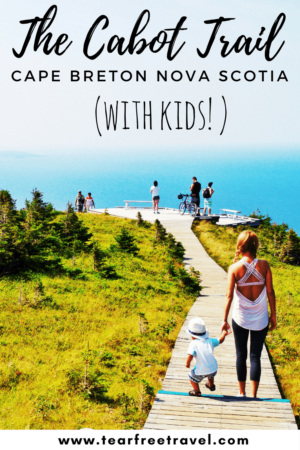 Planning a trip to Cape Breton with kids? Check out my ultimate guide of cabot trail accommodations, restaurants, and activities. My review of hiking the Cabot Trail (Skyline Trail) with young kids. This is a part of Canada you don't want to miss! Click through for the full detailed guide. #cabottrail #skylinetrail #cabottrailwithkids #novascotiawithkids #skylinetrailcapebreton #thingstodoincapebreton