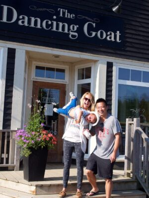 The Dancing Goat. Cape Breton Nova Scotia with Kids.