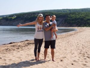 Cabot Trail. Cape Breton. Nova Scotia. Secret Beach. Family Vacation.
