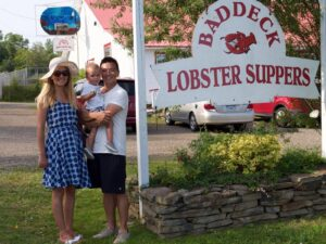Baddeck Lobster Suppers. Cape Breton Nova Scotia with Kids.
