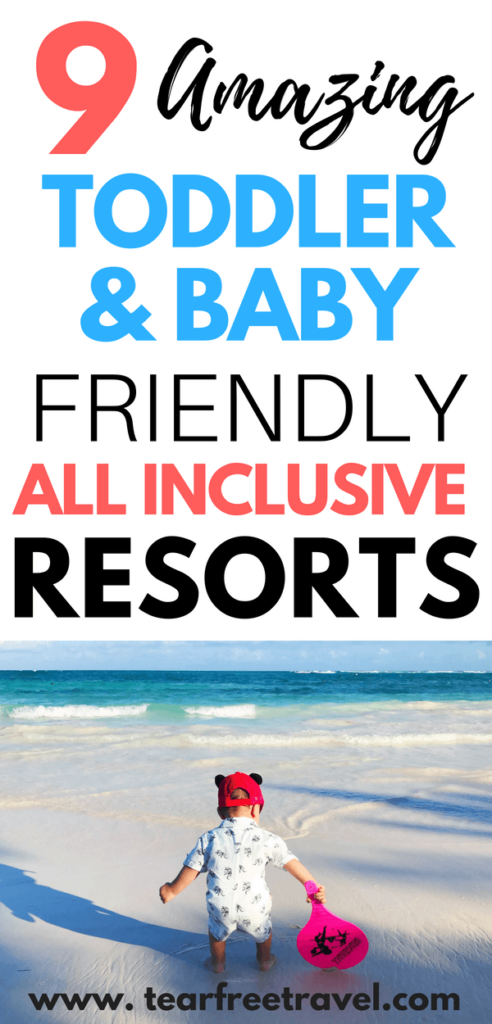 Are you looking for an amazing family vacation with your toddler or baby? Check out my list of the best baby friendly and toddler friendly all inclusive resorts in Mexico and the Caribbean. These luxury resorts have lots of baby amenities, and also have a luxury feel for adults. A vacation with a toddler is tough, and we all want something that is going to be a home run from the start! These family vacation ideas are sure to please even the youngest travelers! #toddlervacation #familyvacation