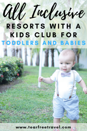 Are you planning an all inclusive vacation with a toddler? These luxury toddler-friend all inclusive resorts are great for your next family vacation. All of the resorts listed in my article have kids clubs that accept kids 3 and under, giving parents a chance to actually relax on vacation! Click through to see my top picks! #luxury #luxurytravel #allinclusiveresorts #toddlertravel #familyvacation #travelwithkids #toddlerfriendlytravel #familyfriendlyresorts