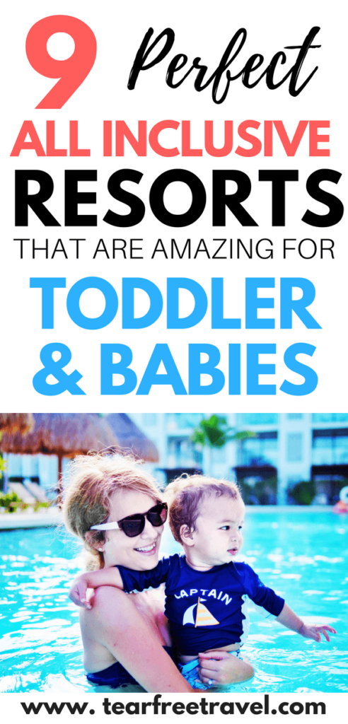 Are you looking for the perfect family vacation with your toddler or baby? Check out my list of the best toddler friendly and baby friendly all inclusive resorts in Mexico and the Caribbean. These resorts have lots of baby amenities, and have a luxury feel for adults. This vacation with a baby is going to be a home run from the start! These family vacation ideas are sure to please even the youngest travelers! #toddlervacation #babybeachtrip #familyvacation #familyvacationideas #bestallinclusive