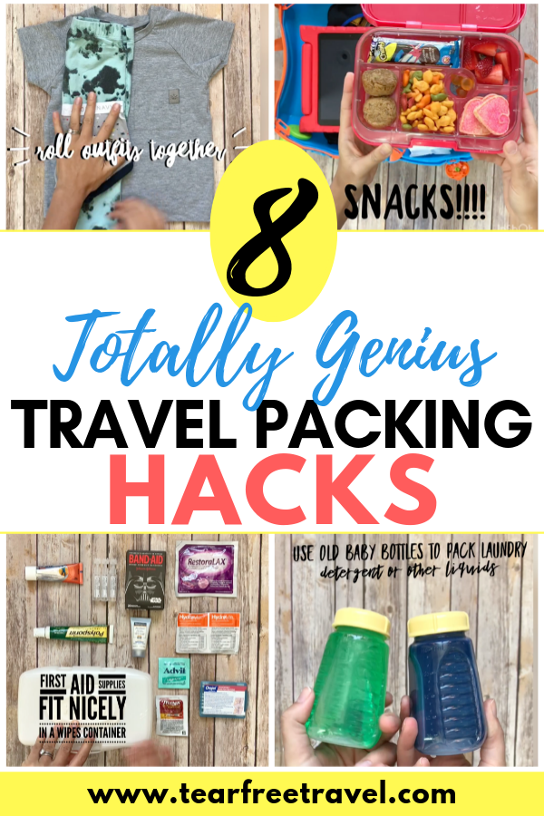 Heading on vacation with family? Don't forget these amazing space saving packing hacks. You'll be packing light with these awesome travel hacks to get your suitcase organized. These family travel tips are perfect for your next trip. #travelhacks #packinghacks #familytravel #travel #vacation
