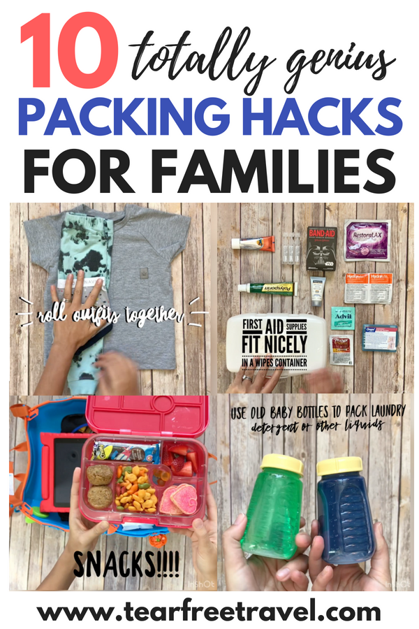 Looking for the best packing hacks? Check out my best tips for packing for travel with kids. These family friendly packing hacks will help you pack light and save space with kids. All the best packing tips for your carry on and your suitcase. The smart way to pack a kids suitcase and stay organized on vacation! Helpful tips and tricks for packing your suitcase like a pro! #packinghacks #packing