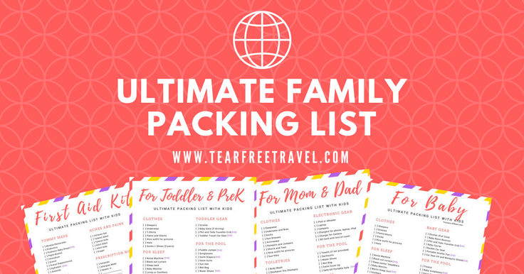 Free Printable! Packing list sample for travel with kids