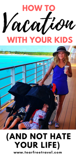 My honest account of how we've managed to turn our 'trips' with kids into actual 'vacations' (complete with relaxation). Family travel tips to keep you sane and relaxed on vacation! #familytravel #familytraveltips #familyvacation #travelinspiration #familyvacationtips #travelwithkids #travelwithbaby #travelwithtoddler #toddlervacation #babyvacation #funfamily