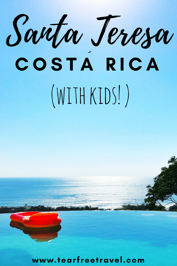 If you are thinking of planning a trip to Santa Teresa Costa Rica this is your complete guide! My list of the top beaches, restaurants, hotels and rentals. With surfing, yoga and hiking there are lots of things to do! I include some family-friendly recommendations for this awesome beach destination #santateresacostarica #costarica #travelwithkids #costaricaguide #costaricabeach #beachvacation