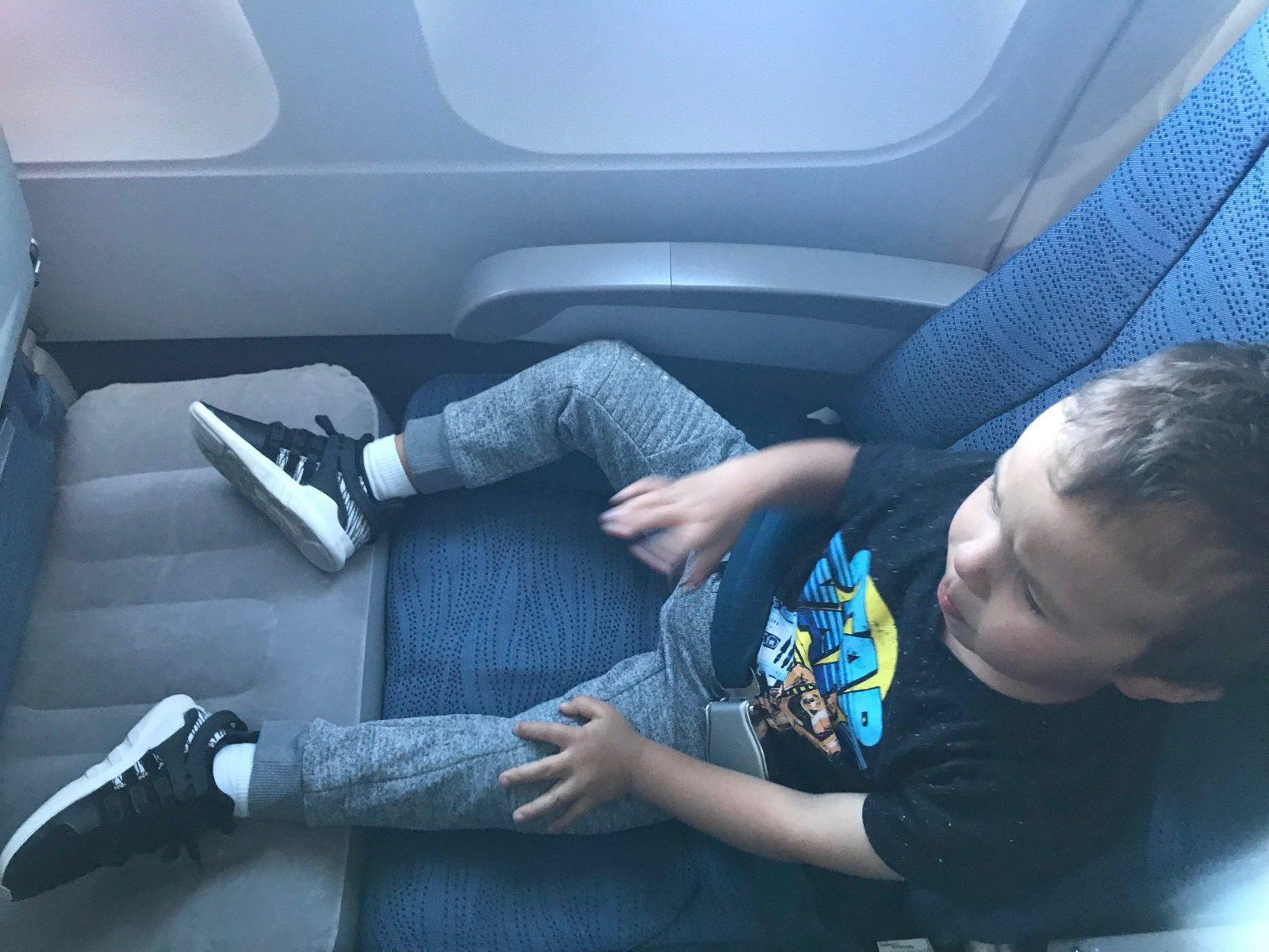 This Inflatable Toddler Travel Bed For The Airplane Is A