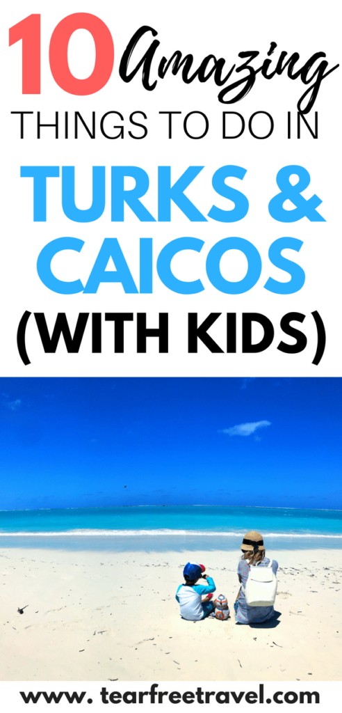 Are you headed to Providenciales Turks and Caicos? Before you go, check out my top 10 things to do in turks and caicos. I have lots of tips for a family beach vacation in turks and caicos. Lots of advice for the best activities in the Turks and Caicos Grace Bay Area. Pin this for your next Turks and Caicos vacation! #turksandcaicos #familyvacationideas