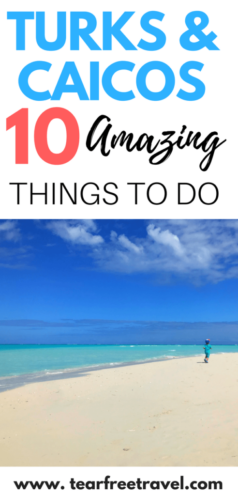 Are you headed to Turks and Caicos? Check out my tips on the best things to do in turks and caicos (with kids!). Turks and caicos is an amazing family friendly beach vacation destination. There is so much to do in Turks and Caicos Providenciales for everyone to enjoy. If you are planning a Turks and Caicos vacation, you have got to pin this! #turksandcaicos #familyvacation #vacationideas #beachvacation