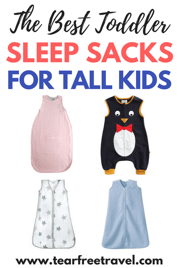 Are you looking for the best toddler sleep sacks? I've tried them all and I'm here to report on the best sleeping sacks for toddlers. If you have a tall toddler, you'll want a sleep sack that will last a long time! I will review the best toddler sleep sack for tall kids. Whether you are searching for the best sleep sack for winter or the best sleep sack for summer, I've got your covered with lots of options. Pin this list for later! #toddler #toddlersleep #toddlergear #toddlersleepsack