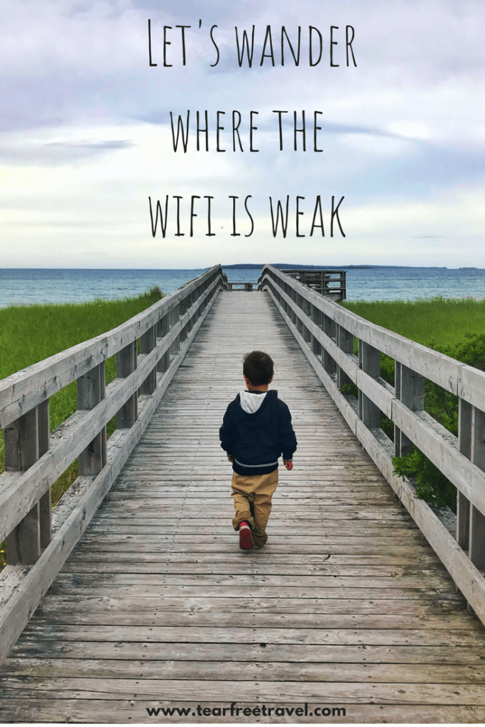 "Inspiring Travel Quotes for travellers! 75 quotes to fuel your wanderlust. Happiness quotes and meaningful quotes about traveling! Pin these inspirational messages for later. ""Let's wander where the wifi is weak"" #quotes #inspirationalquotes #travel"