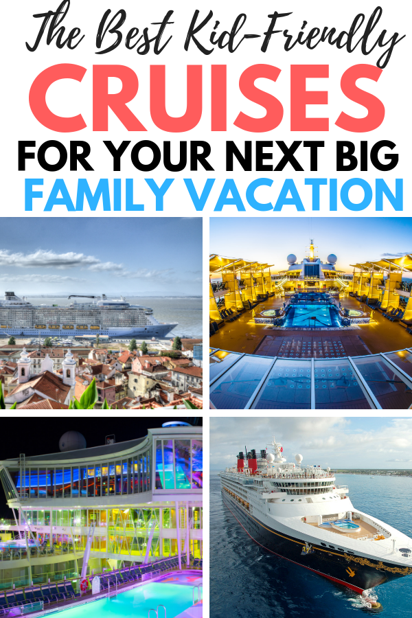 How about a family cruise vacation? Read here about our favorite family friendly cruise lines. These are the best cruises for kids that will please your entire family. Read our cruise tips for picking your next cruise vacation with the family here. We will break down the top 5 family friendly cruise lines and explore what each lines has to offer for kids. Pin this for your next family cruise! #cruisevacation #cruise #cruisetrips #travel #familytravel #familyvacation #travelwithkids