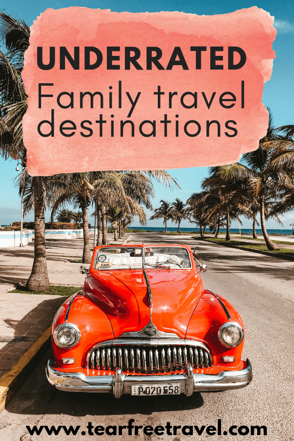 Are you planning a family vacation. Check out these awesome and underrated travel destinations perfect for families. These family holidays will please adventurous family travelers. Check out our ideas for a family adventure that you won't forget. Pin this for your next family trip! #vacation #travel #familytravel #trip #familyvacation #travelinspiration