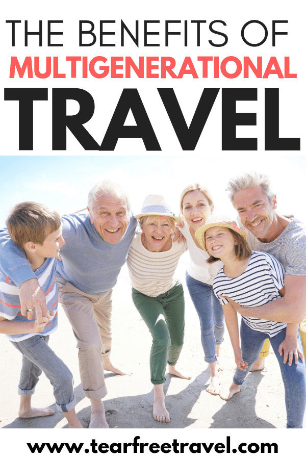 There are so many benefits to multigenerational travel. Bringing grandma or grandpa on vacation will not only help share the load taking care of the kids, but will allow for amazing family bonding. A trip with the grandparents is a perfect family vacation. Read about all the benefits to bringing family along on your next trip! #travel #familyvacation #vacation