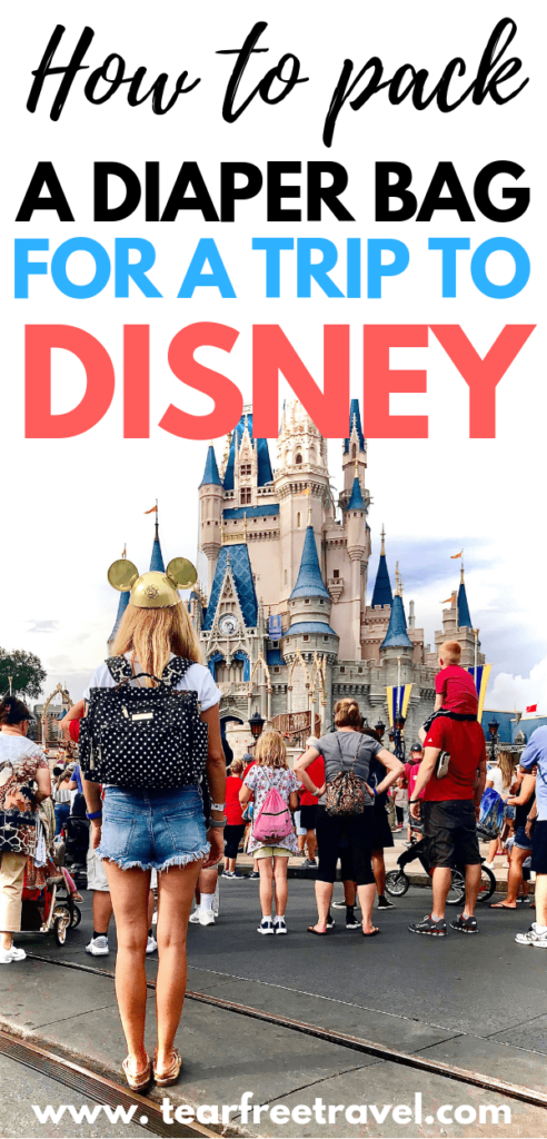Disney World with a baby is a magical trip! Here's our tips for what to pack for a baby at Disney. These Disney baby packing tips are perfect for your little ones first trip to Disney. Pack your Disney diaper bag with these items and you will be prepared for anything on your magical Disney World vacation. #disney #disneyworld #disneybaby