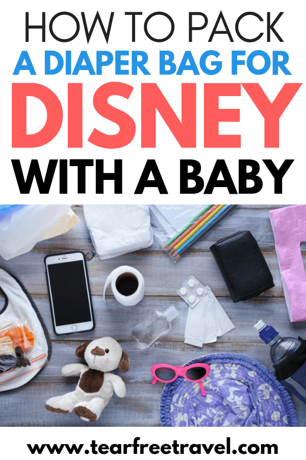 Are you heading to Disney with a baby? Disney world with a baby can be a fantastic trip for everyone, just make sure you are prepared! Here are our tips for what to pack for a baby at Disney. We have your diaper bag packing list right here. Read our best baby travel hacks to keep everyone happy on their first trip to Disney World. Enjoy your magical Disney vacation! #disney #disneybaby