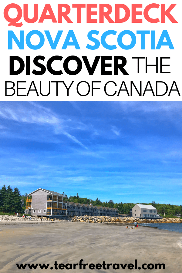 Discover the beauty of Canada with this beautiful Nova Scotia Resort. Here is our review of the Quarterdeck Beachside Villas and Grill in Nova Scotia Canada. This fun summer resort is perfect for your next Canadian adventure. Nova Scotia is beautiful in summer and you will love this family friendly resort. Enjoy the beautiful beaches of Nova Scotia in this awesome family resort. #novascotia #beachtravel
