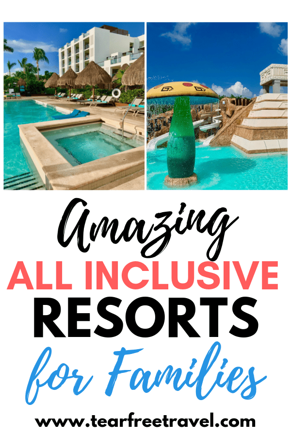 Are you headed on vacation with family? Check out the best all inclusive resorts for kids in Mexico and the Caribbean. We love these amazing family-friendly resorts that have a variety of awesome kid amenities to make your next family vacation awesome. If you are looking for a 'home run' vacation with kids, these amazing all inclusive resorts are perfect for your next family trip. #vacation #travelwithkids #familyvacation