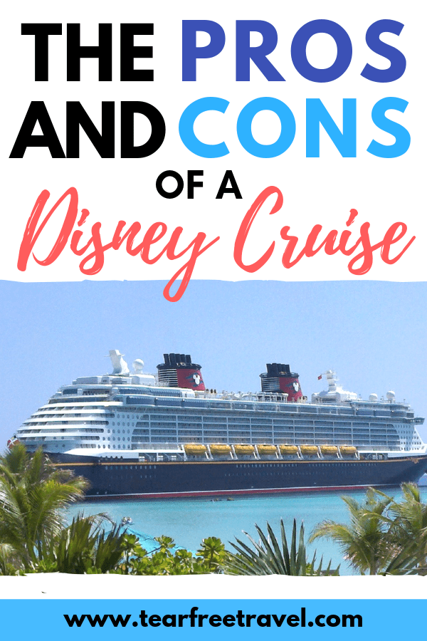 Are you thinking of planning a Disney cruise? Here is out list of the pros and cons of a Disney Cruise. We have all the best Disney cruise tips to maximize your fun on vacation. We will cover the best time to splurge on a Disney cruise with kids. Hear about what we loved (and didn't) on our Disney cruise with family. #Disney #disneycruise #cruise