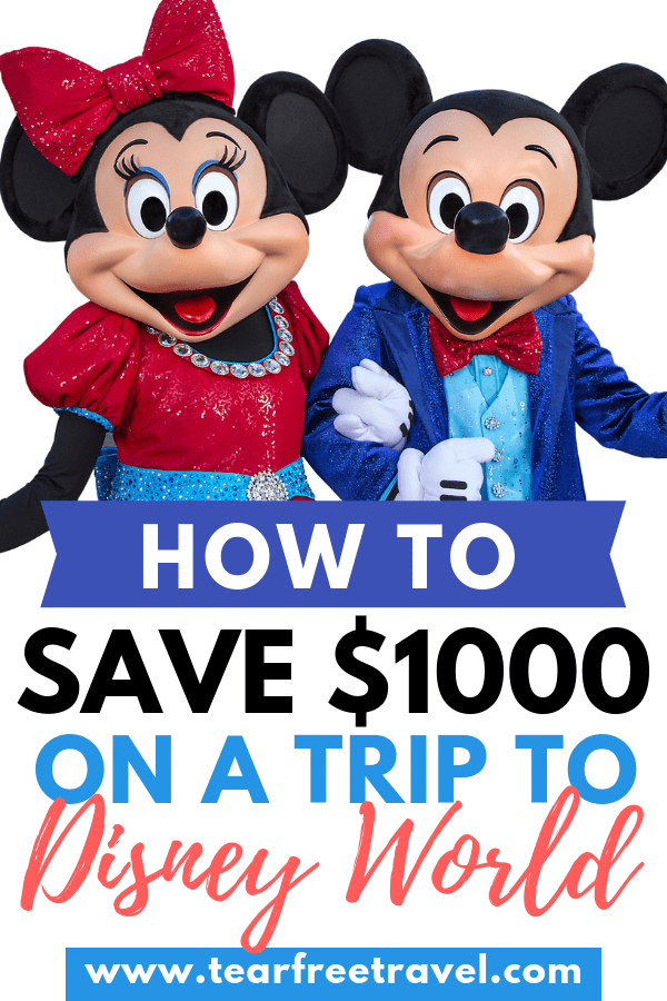 save money on disney world