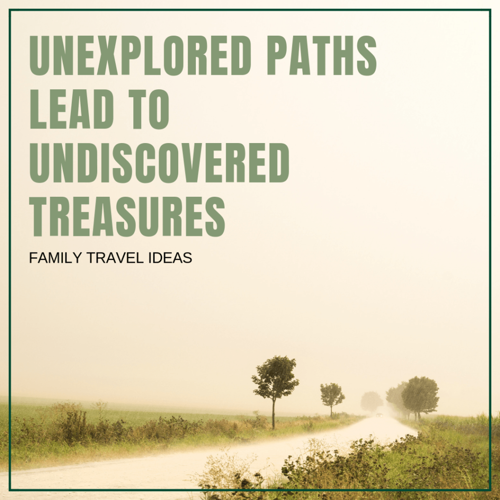 Unexplored paths lead to undiscovered treasures. | Travel Quotes