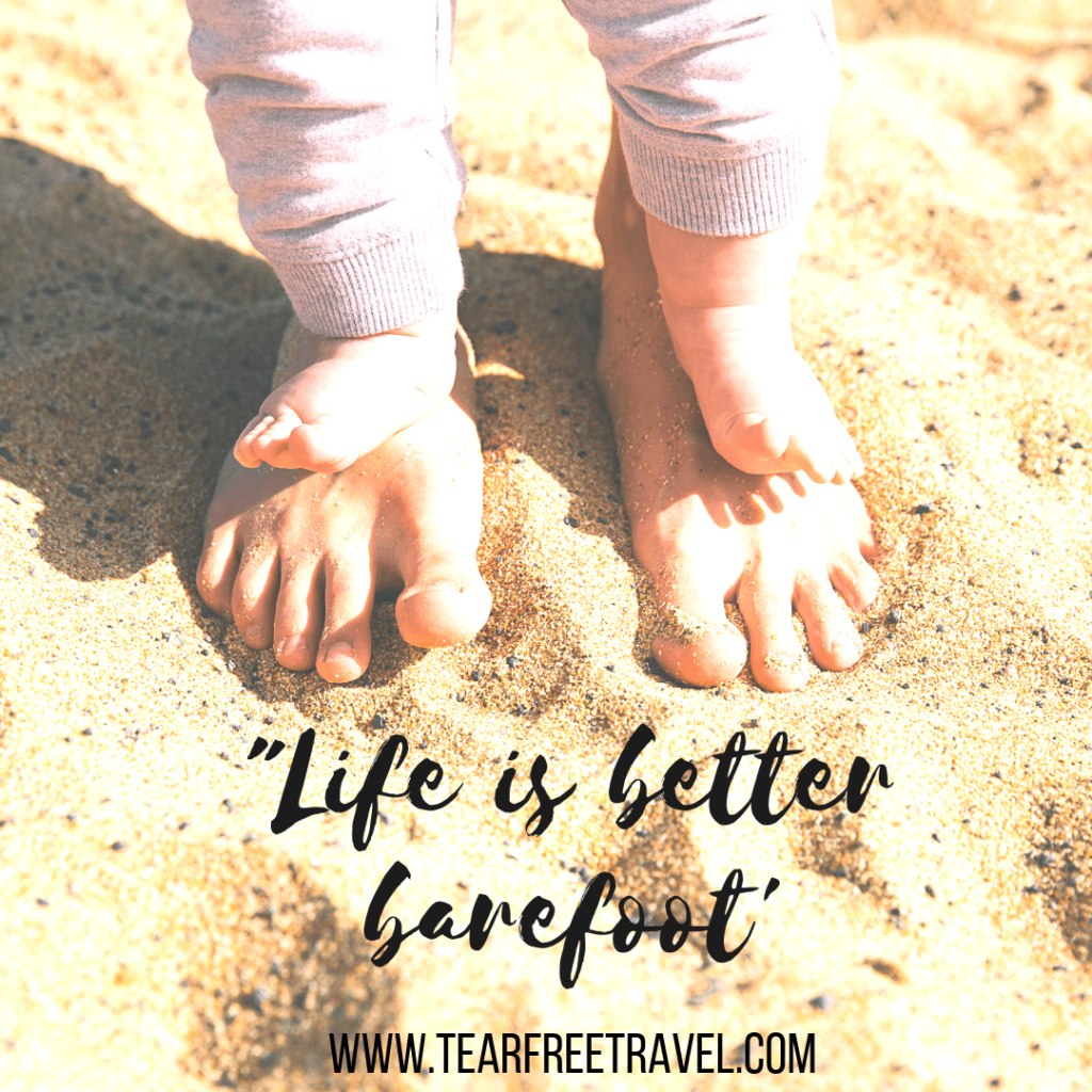 Life is better barefoot | Captions for travel
