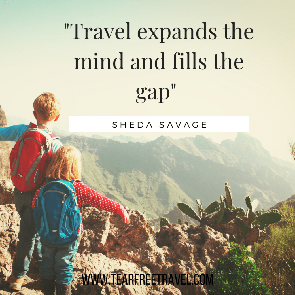 Travel expands the mind and fills the gaps | Famous Quotes