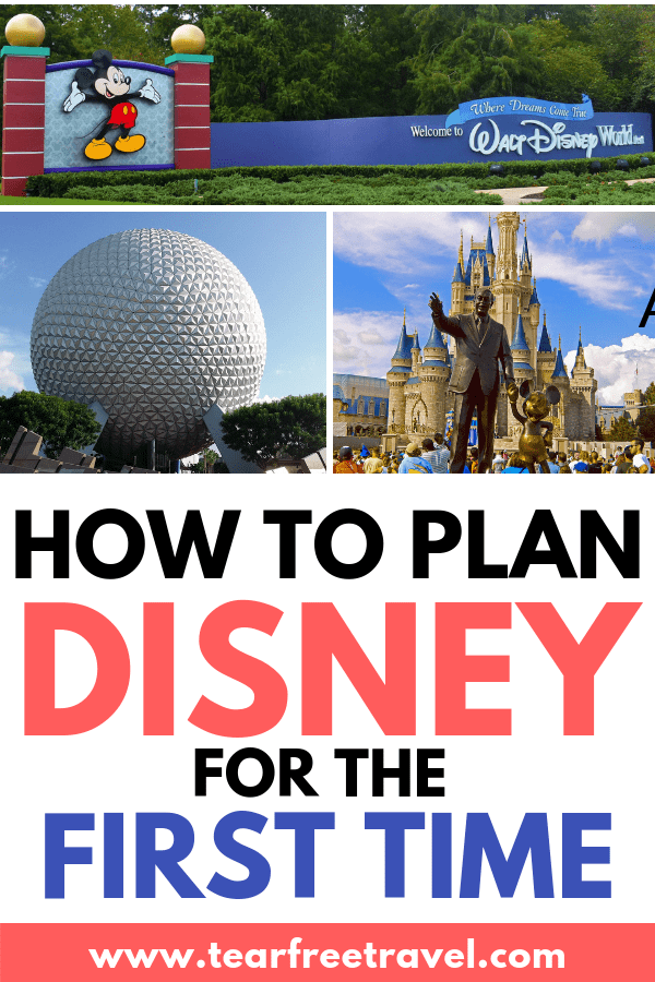 How to plan disney for the first time